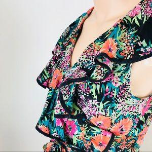 Anthropologie Yumi Kim Silk Sleeveless Floral Top